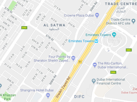 Hotels aan de Sheikh Zayed Road Dubai
